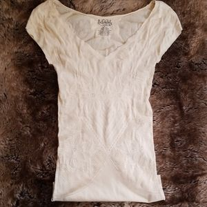 Free People Intimately Top Tee Shirt Ivory